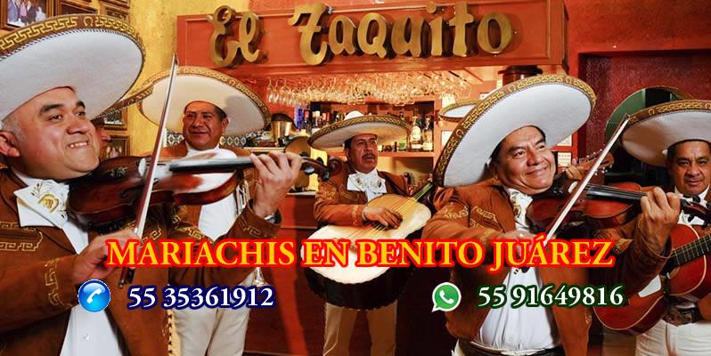 grupos de mariachis en benito juarez