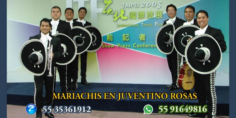 Mariachis en Juventino Rosas