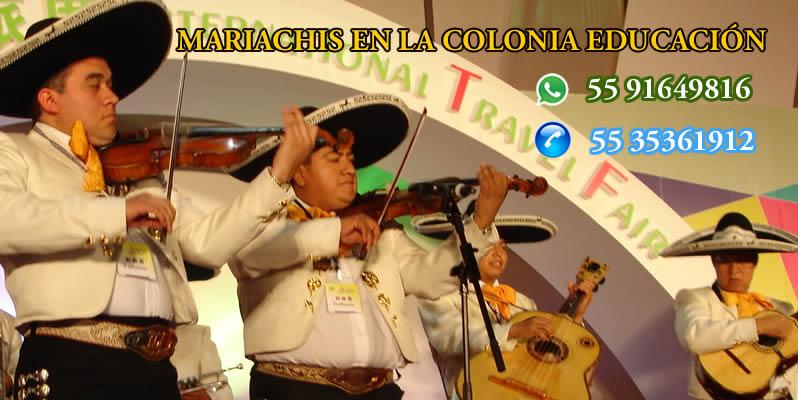 Mariachis en La Colonia Educación