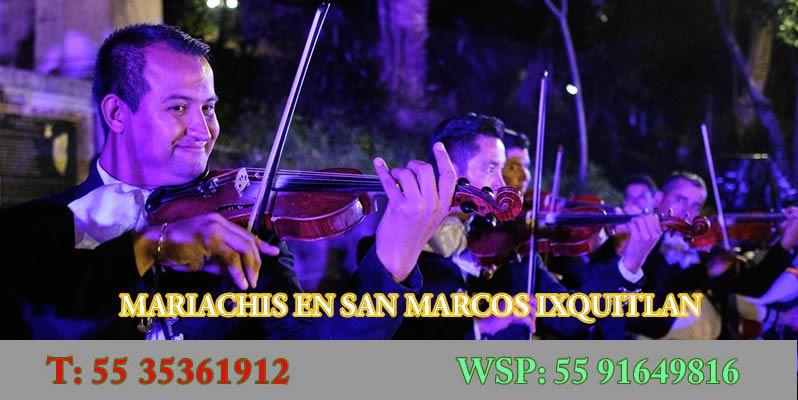 Mariachis en San Marcos Ixquitlan